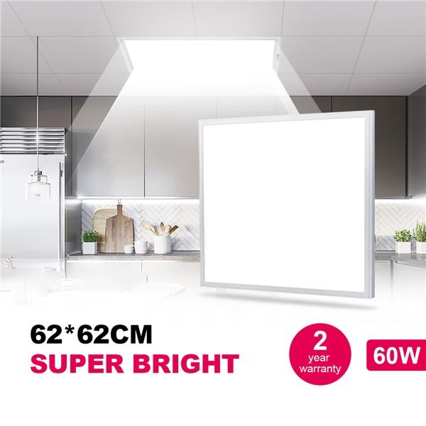 Natur 62 * 62CM LED Panel Light 48W, 150W LED Bulb Equivalent, Ultra Slim & Lightweight LED Ceiling Drop, 5800LM 4000K Neutral White, LED Flat Panel Light for Office Shop Workshop Kitchen Lighting [Energy Class A++]